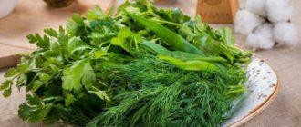 Блюда, содержащие зелень