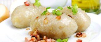 Цеппелины из картофеля с фаршем рецепт